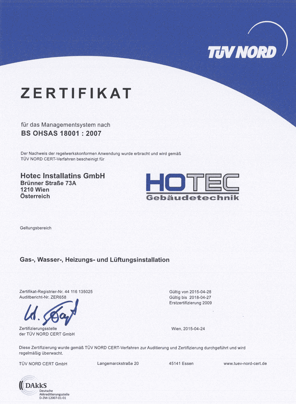 Hotec_Zertifikat